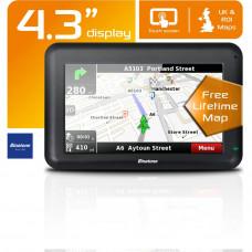 Binatone U435 4.3 Inch UK and ROI Sat Nav - Free Lifetime Maps Update !