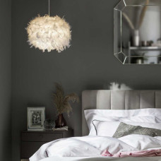 Home Feather Light Shade - White