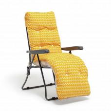 Habitat Seville Sun Lounger Cushion - Orange