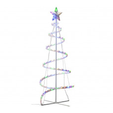 Home 3.5ft 100 LED Spiral Tree - White