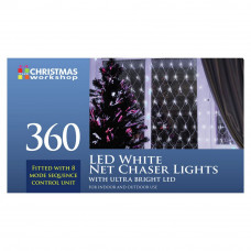 The Christmas Workshop 360 LED Net Chaser Curtain Lights