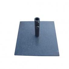 Granite Natural Square Parasol Base - Black