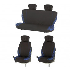 Streetwize Check Car Seat Covers - Blue
