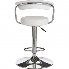 Executive White Gas Lift Bar Stool