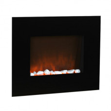 Creswell Inspire Small Black Glass Wall Electric Fire