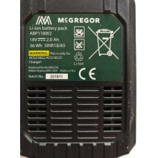 McGregor ABP118W2 Li-Ion 18V Replacement Battery