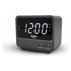 Bush 2 USB FM Clock Radio - Grey