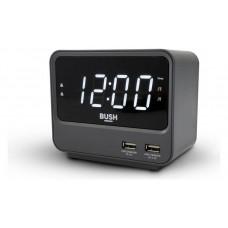 Bush 2 USB FM Clock Radio - Grey