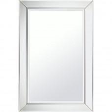 Home 75 x 50cm Rectangular Bevelled Wall Mirror - Silver