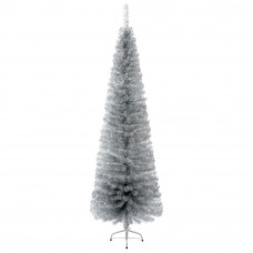 Silver Pencil Pine Christmas Tree - 6.4ft