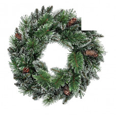 Heart of House Prelit Wreath Christmas Decoration - Snowtipped