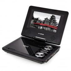 Akai A51007 Portable DVD Player 270 Degree Swivel Screen - Black (Unit Only)