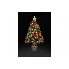 Premier Decorations 2.6ft LED Fibre Optic Tree - Black (One Bulb Not Working)