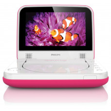 Philips PD7006P/05 Spill Resistant 7in Portable DVD Player - Pink (Unit Only)