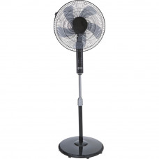 "Challenge 16"" Inch Black Oscillating Pedestal Fan (No Remote Control)"