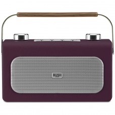Bush Leather DAB/FM Radio - Aubergine