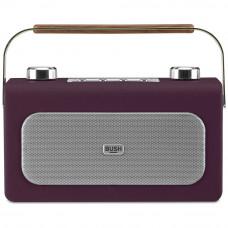 Bush Leather DAB/FM Radio - Aubergine
