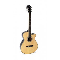 Martin Smith W-401EN Electro Acoustic Guitar With Cutaway - Natural