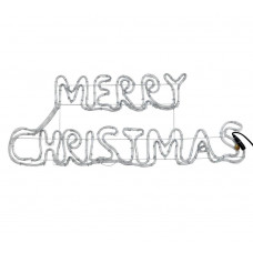 Home LED Silhouette Merry Christmas Sign - Bright White