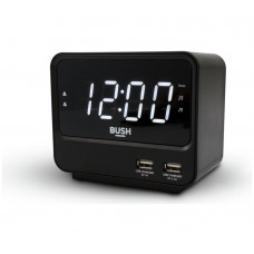 Bush FM USB Clock Radio - Black