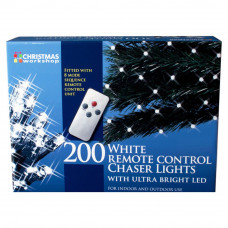 Christmas Workshop 200 Remote Control LED Lights - White