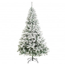 Home 7ft Snow Covered Christmas Tree - Green