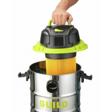 Guild 30L Steel Drum Wet & Dry Canister Vacuum Cleaner - 1500W (No Foam Filter)