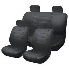 Leather Look Car Seat Covers - Black