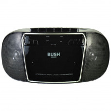 Bush KBB500 CD Radio Cassette Player Boombox - Black & Silver