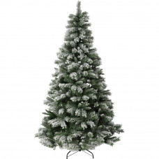 Green Snow Covered Christmas Tree - 7ft