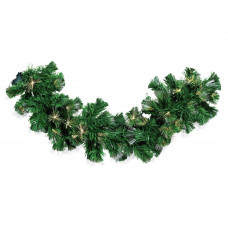 Fibre Optic LED Battery Operated Garland - Warm White