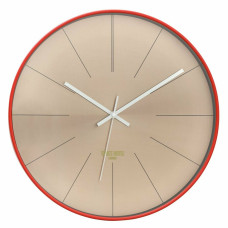 Space Hotel District 12 Wall Clock - Red