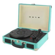 Bush Classic Retro Portable Case Record Player - Teal