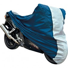 Motorcycle Cover Blue and Silver - Extra Large