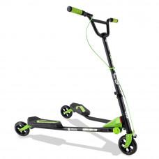Yvolution Fliker C3 Scooter - Matte Black/Green
