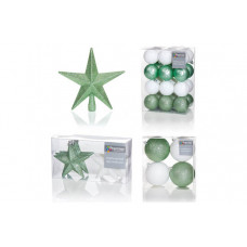 Premier Decorations 35pc Luxury Decorations - Green/White