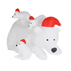 Home Inflatable Polar Bear Family