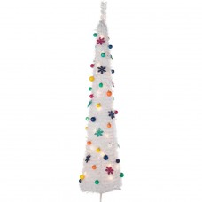Pop Up Jolly Holidays White Christmas Tree - 6ft