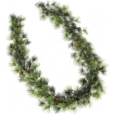 Heart Of House Snow Tipped Pre-Lit Christmas Garland - Green