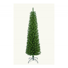 Home 6ft Pencil Christmas Tree With Lights - Green