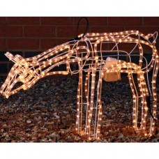 Grazing Moving Reindeer Christmas Decoration Light