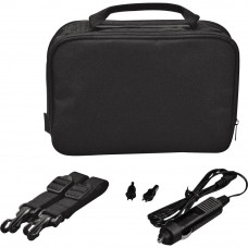 10 Inch Gadget Bag with Car Charger - Black