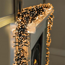 Premier Decorations 480 LED Clusters & Timer Christmas Lights - Vintage Gold