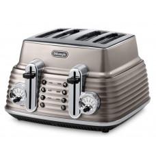 DeLonghi Scultura CTZ4003BG 4 Slice Toaster - Champagne