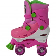 Zinc Adjustable Quad Skates - Pink