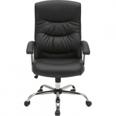 Sydney Gas Lift Leather Faced Office Chair - Black