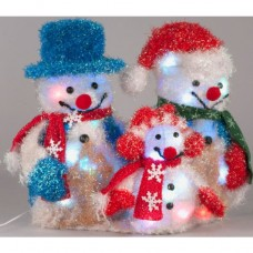 Snowman Family Christmas Decoration
