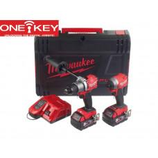 Milwaukee M18ONEPP2A2-502X 18v Li-ion One-Key Fuel Twin Pack