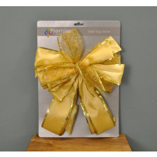 Premier Decorations Gold Tree Top Bow Christmas Decoration