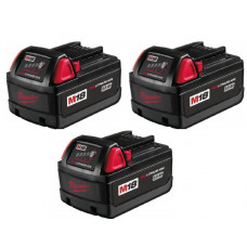 Milwaukee M18 18v 3.0Ah Red Lithium-Ion Battery - Pack Of 3